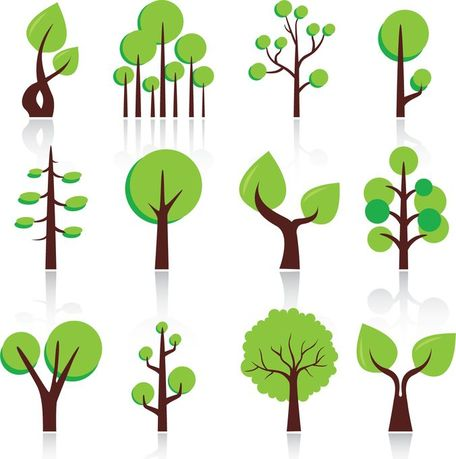 456x459 Free Free Vector Abstract Trees Clipart And Vector Graphics