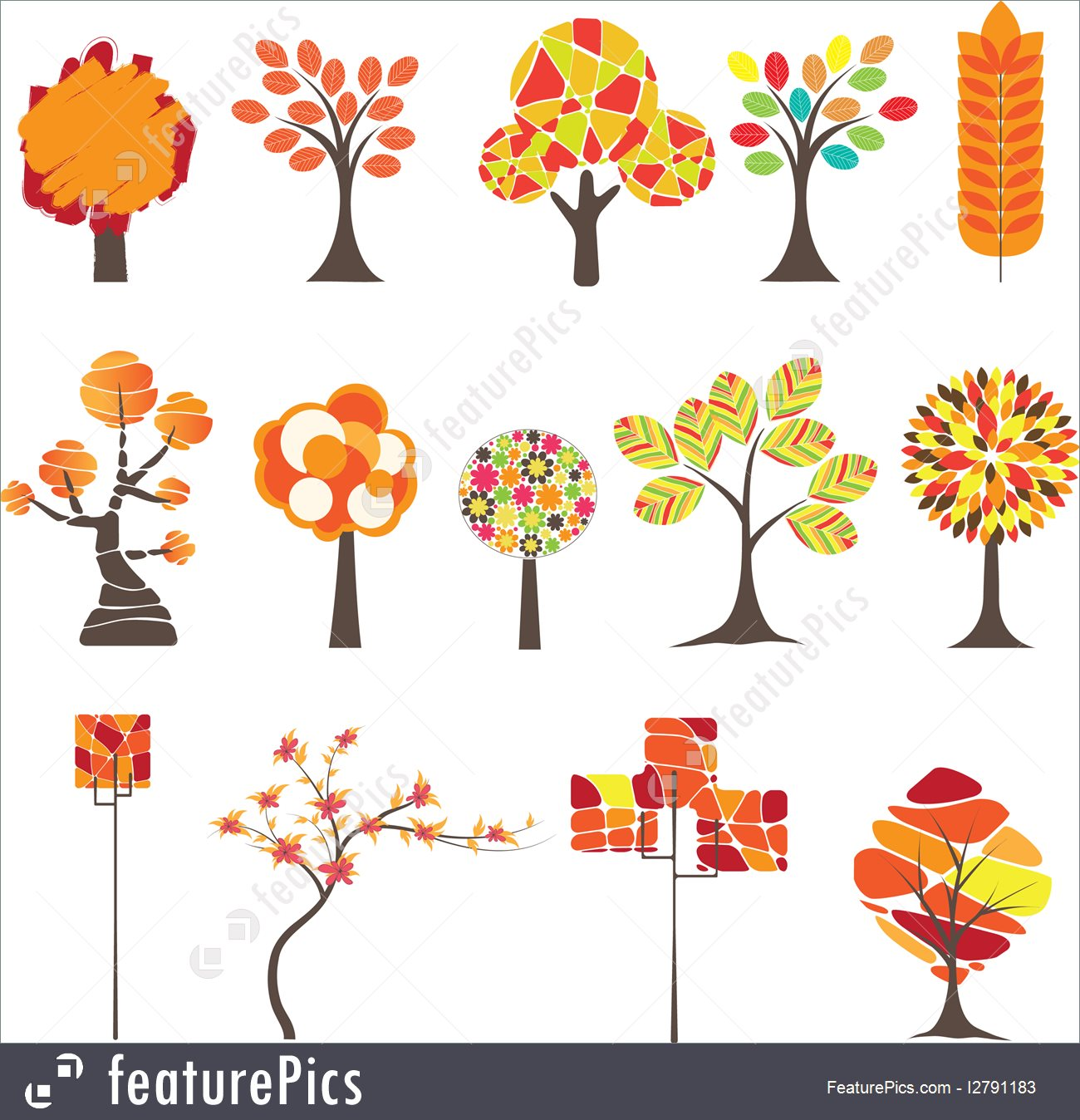 1300x1348 Plants Abstract Trees. Vector
