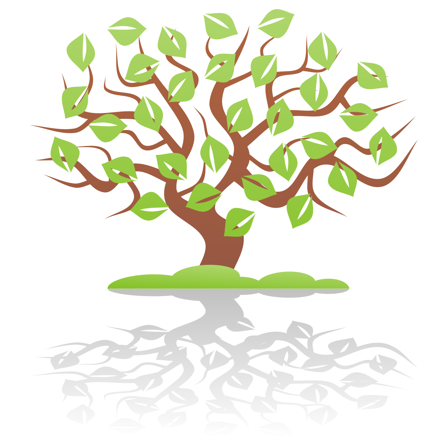 1500x1500 Vector For Free Use Abstract Tree Vector