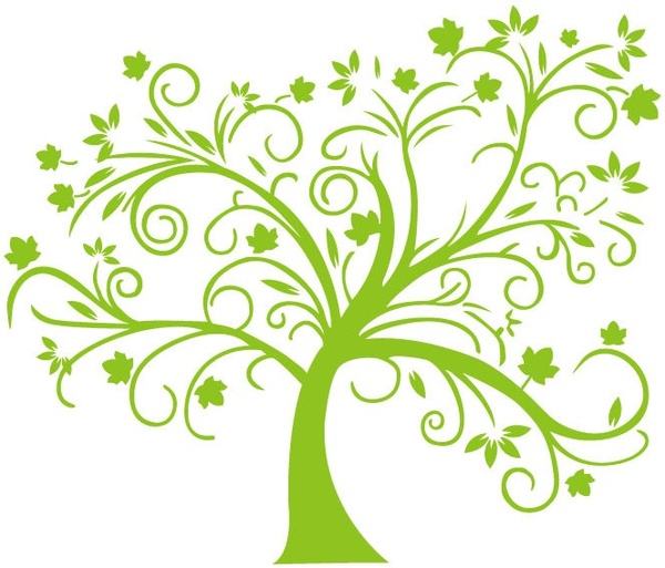 600x513 Abstract Green Tree Vector Illustration Free Vector In