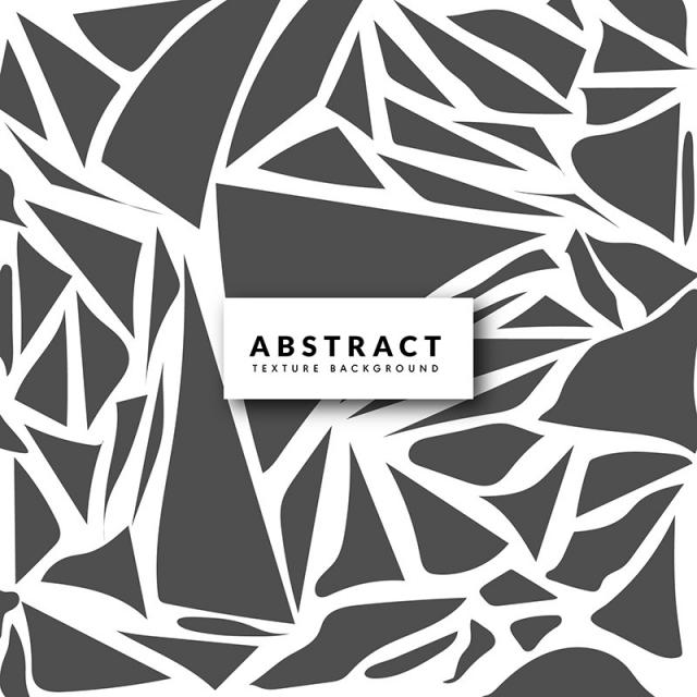 640x640 Black And White Abstract Cutout Texture Background, Black, White
