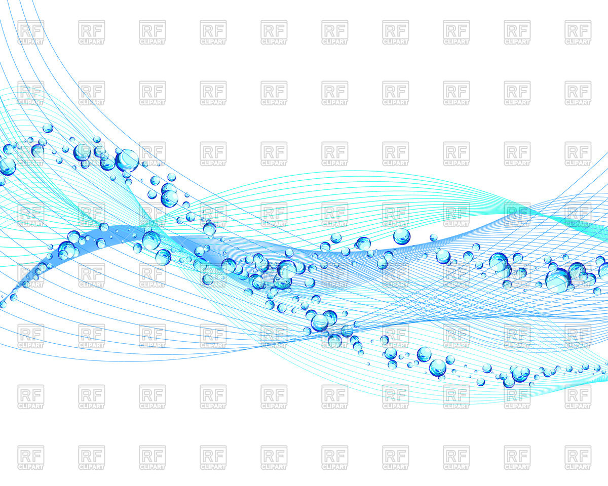 1200x960 Abstract Wave With Bubbles Of Air Vector Image Vector Artwork Of