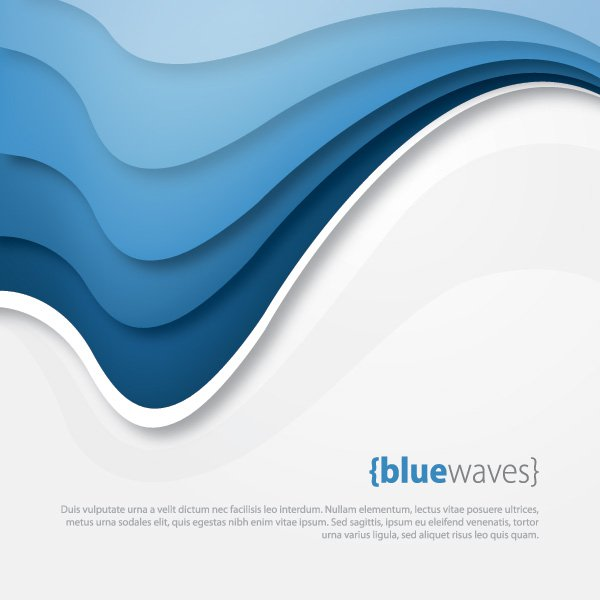 600x600 Blue Waves Vector Graphic