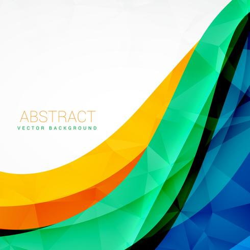 490x490 Abstract Colorful Wave Vector Design Background
