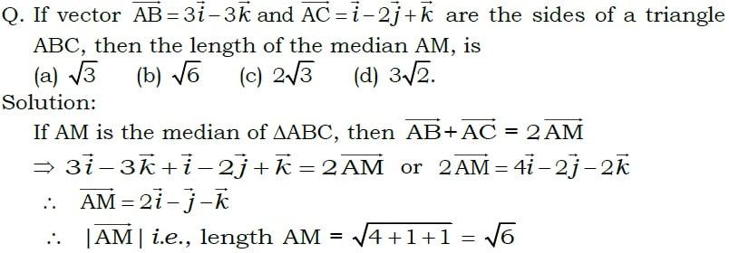 804x280 If Vector Ab=3i 3k And Ac=i 2j K Are The Sides Of A Triangle Abc