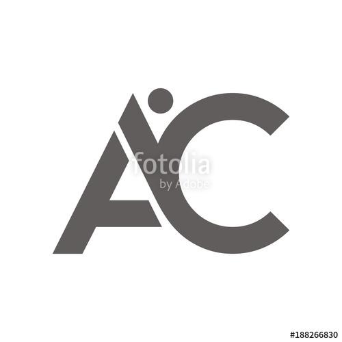 500x500 Ac Logo Initial Letter Design Template Vector Illustration Stock