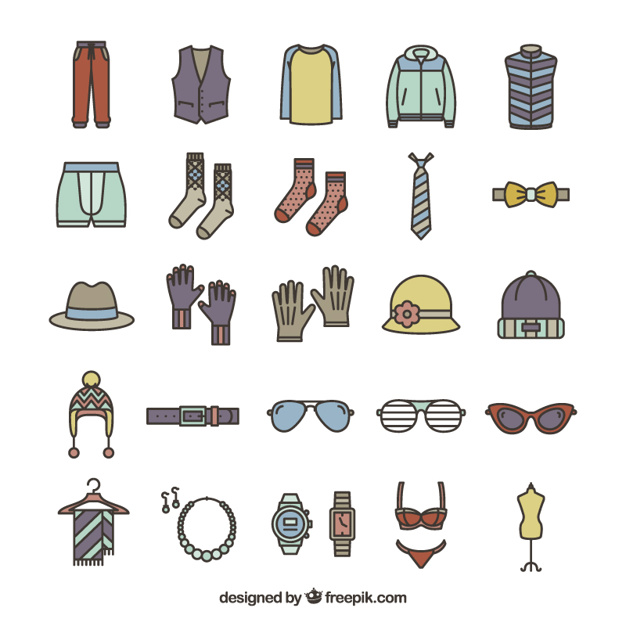 626x626 Fashion Accessories Icons Vector Free Download