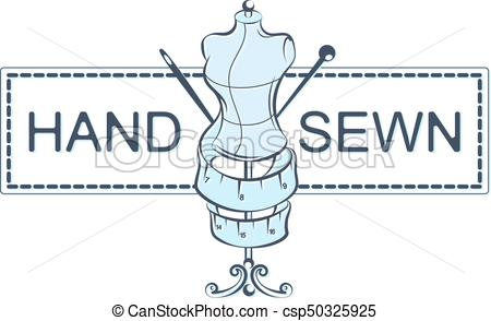 450x294 Hand Sewing Vector. Hand Sewn With Mannequin And Accessories Vector.