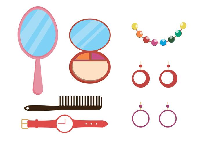 700x490 Makeup And Accessories Vector Pack