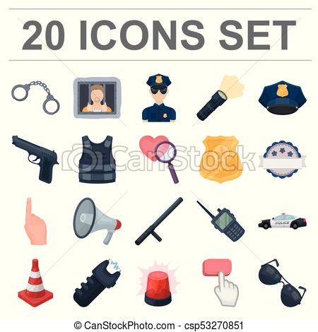 450x470 Police, Department Cartoon Icons In Set Collection For Design
