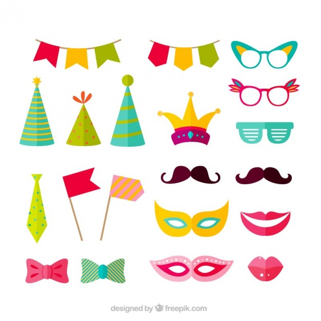 626x626 Variety Of Party Accessories Vector Free Download