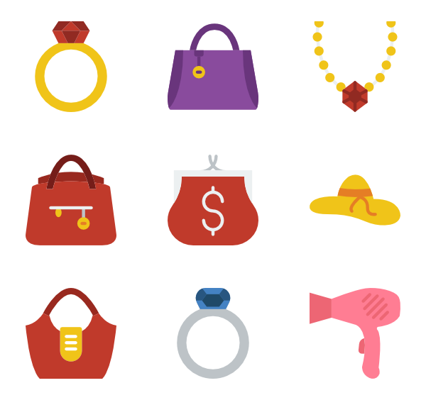 600x564 Women Accessories Icons
