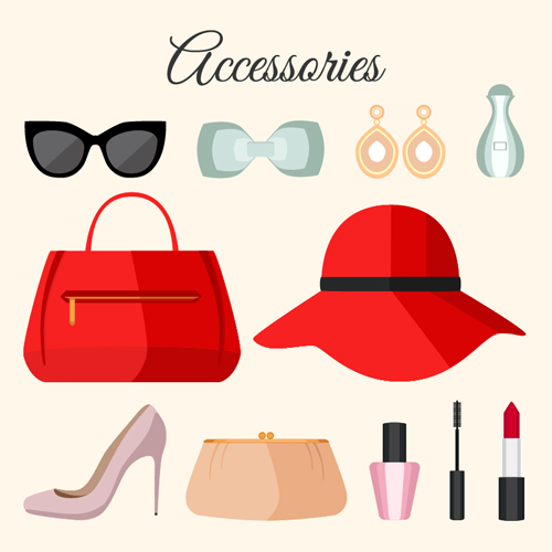 500x500 Women Accessories Vector Design Free Download