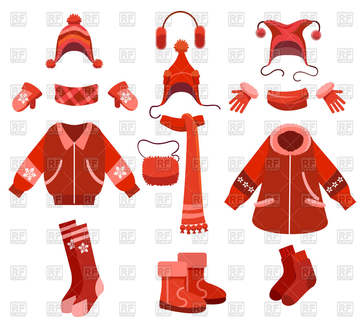 1200x1080 Cartoon Woman Winter Clothes And Female Cold Weather Accessories