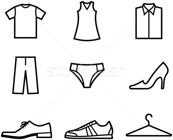 600x487 Clothes And Shoes. Garment And Accessories Vector Illustration