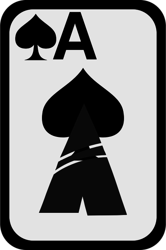 333x500 Ace Of Spades Funky Playing Card Vector Clip Art Public Domain