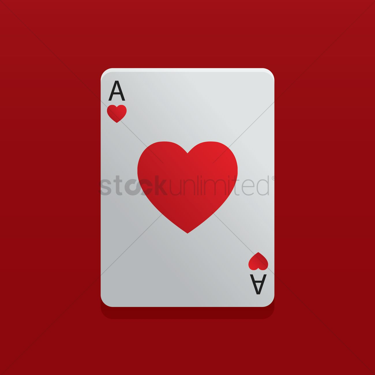 1300x1300 Ace Of Heart Poker Card Vector Image