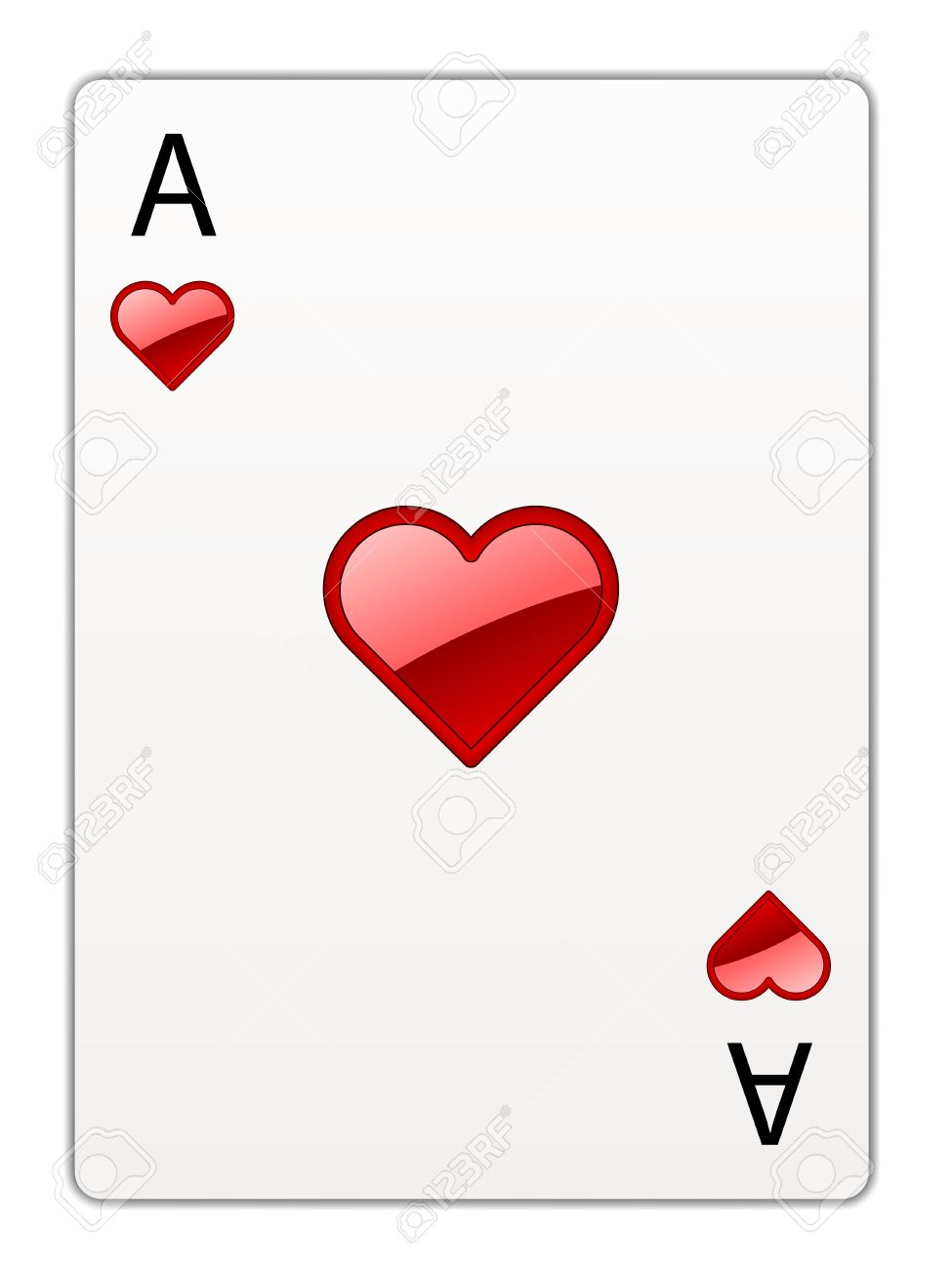 975x1300 Ace Of Hearts Banner Black And White Download