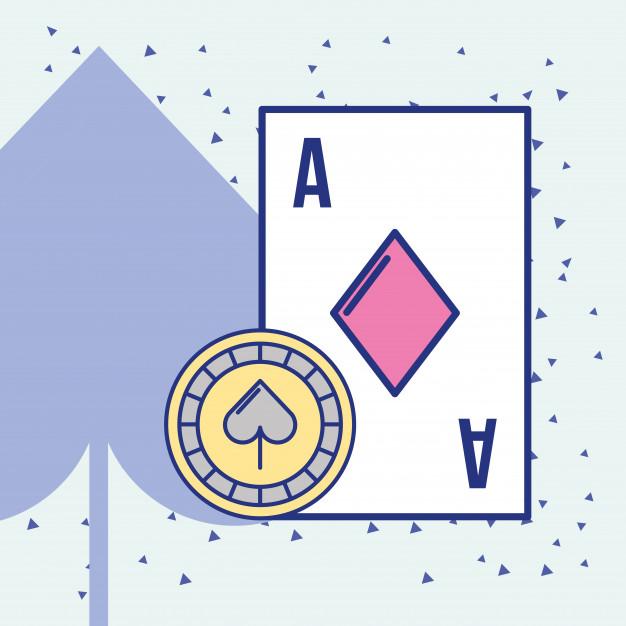 626x626 Casino Ace Card And Chip Cartoon Design Vector Premium Download