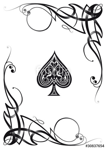 357x500 Decorative Ace Card Stock Image And Royalty Free Vector Files On