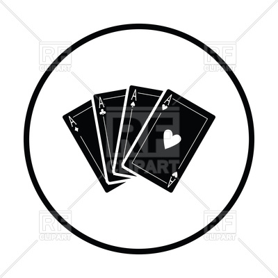 400x400 Set Of Card Icons, Different Ace Vector Image Vector Artwork Of