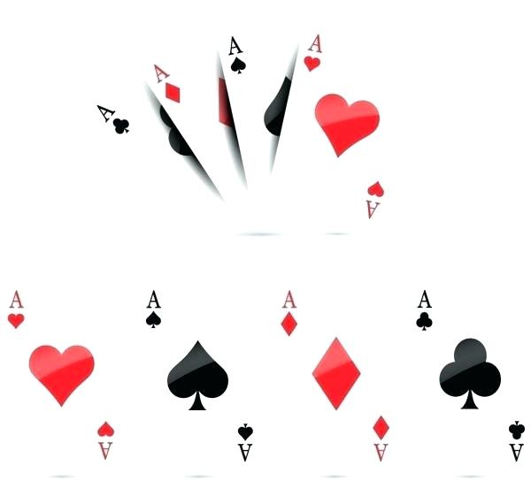 600x544 Vector Playing Cards Line Icon Ace Free Dipmax.pro