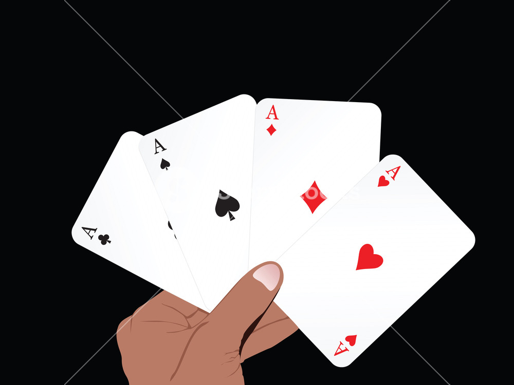 1000x750 Vector Set Of Ace On Abstract Playing Card Background Royalty Free