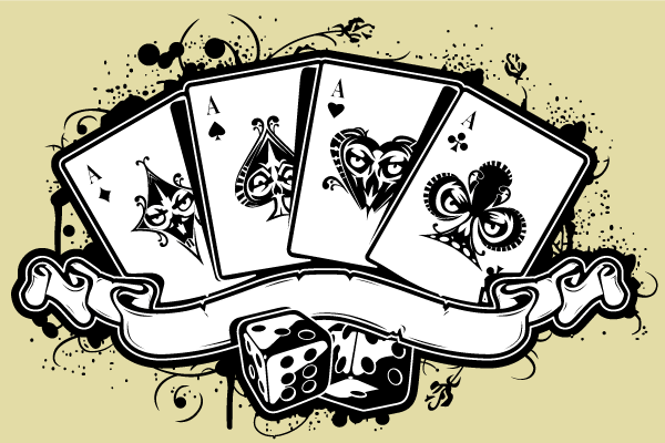 600x400 Vector Set Of Aces Playing Cards 123freevectors