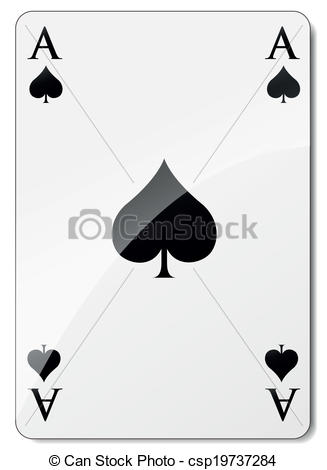 327x470 Vector Ace Of Spades. Vector Illustration Of Ace Of Spades On