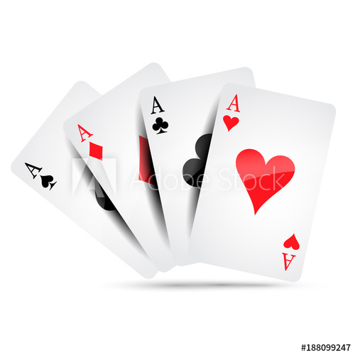 500x500 Ace Card Suit Icon Vector, Playing Cards Symbols Vector, Set Icon
