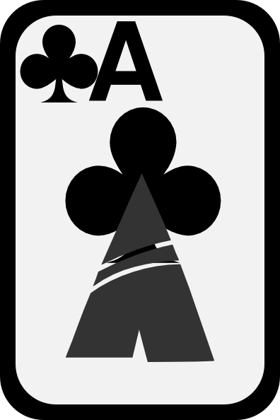 396x594 Ace Of Clubs Clip Art Free Vector 4vector