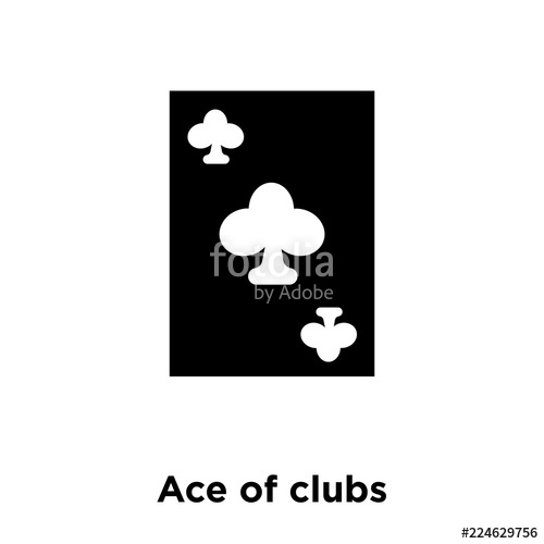 500x500 Ace Of Clubs Icon Vector Isolated On White Background, Logo