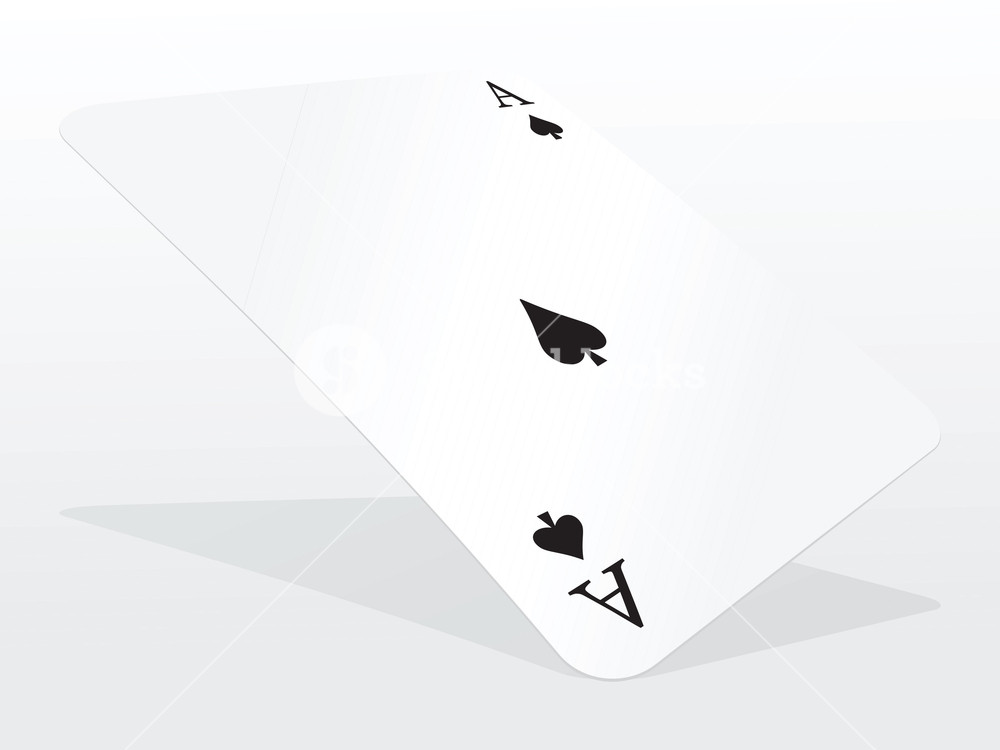 1000x750 Vector Ace Of Spades On Abstract Playing Card Background Royalty
