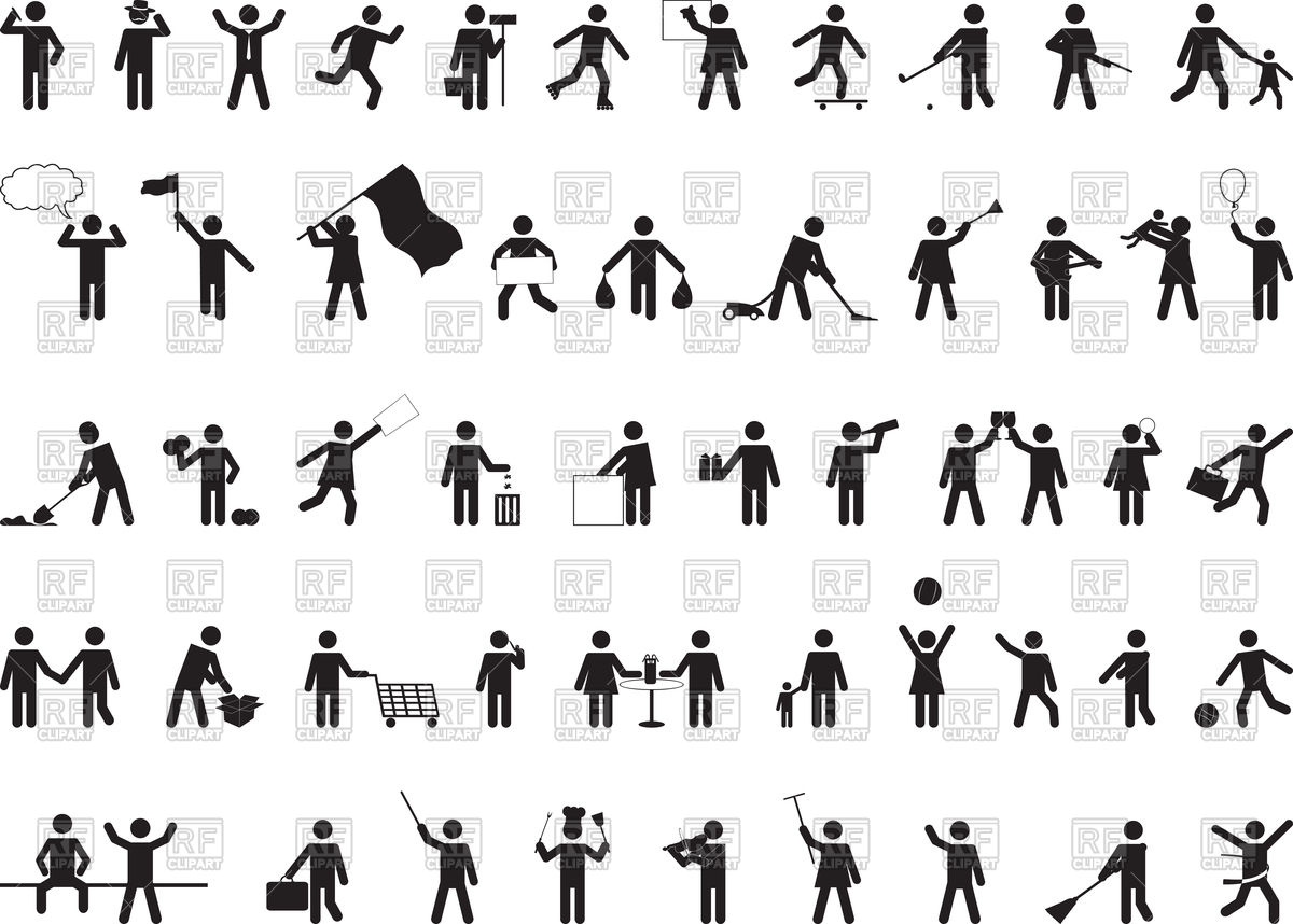 1200x858 Common Pictogram People Activities Vector Image Vector Artwork