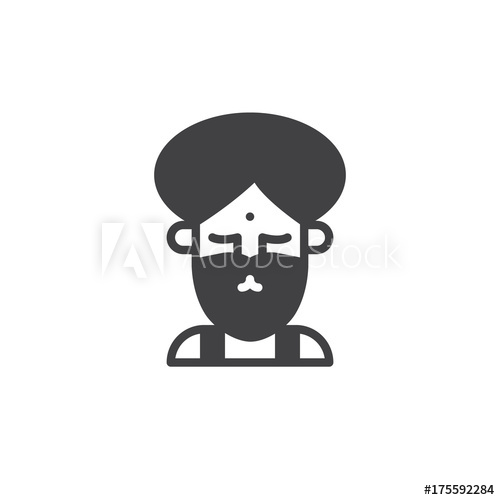 500x500 Fakir Circus Actor Icon Vector, Filled Flat Sign, Solid Pictogram