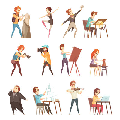 400x400 Page 1 Actors On Curated Vector Illustrations, Stock Royalty Free