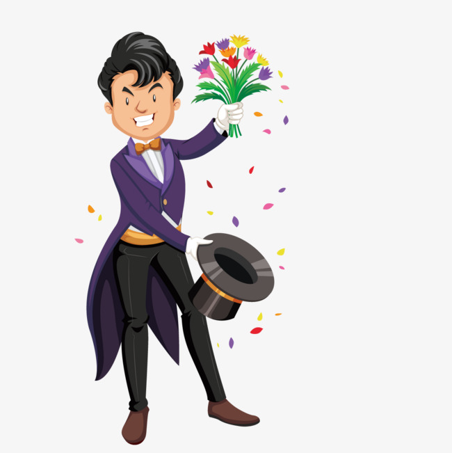 650x651 Vector Flower Magic Trick, Flower Vector, Performance, Actor Png