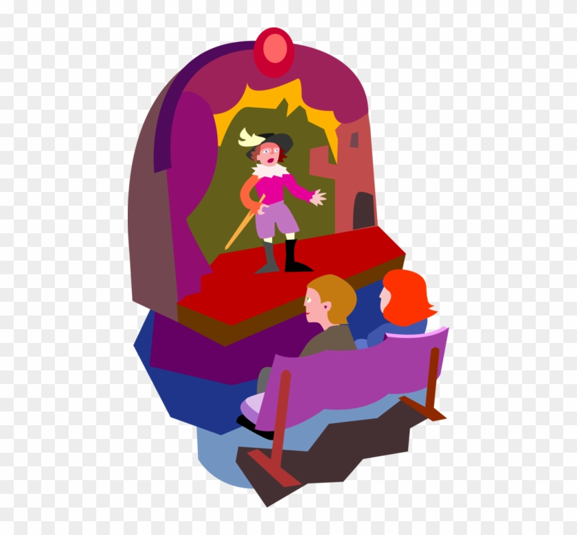 840x780 Vector Illustration Of Thespian Stage Actor Performing