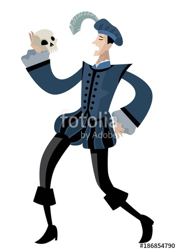 354x500 Hamlet Classical Theater Actor Playing Character Stock Image And