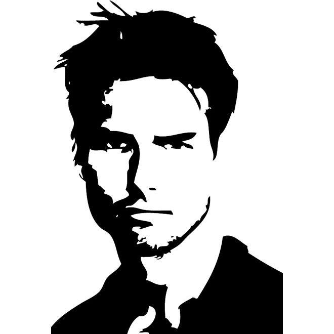 660x660 Actor Tom Cruise Portrait Free Vector 123freevectors