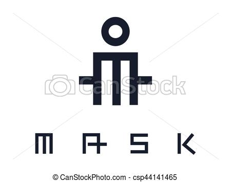 450x354 Actor And Mask Concept Design, Ai 8 Supported. Clip Art Vector