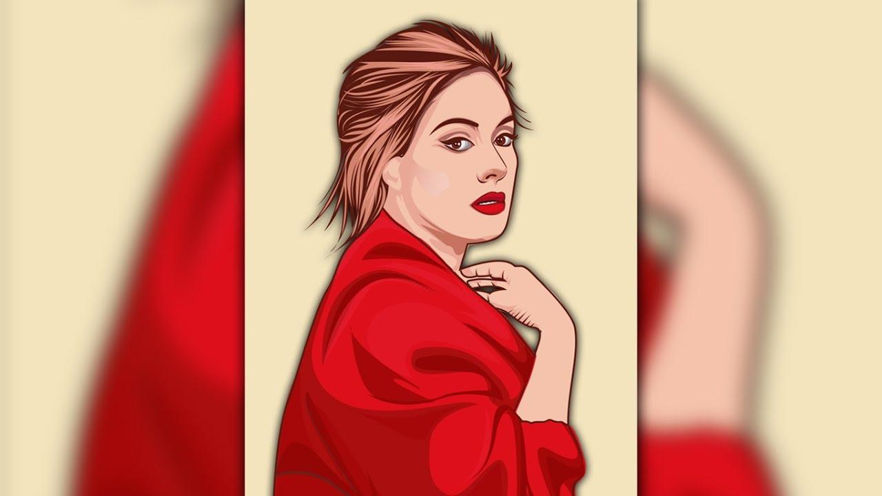 1280x720 Create A Vector Portrait Adele In Illustrator Vector Illustrator