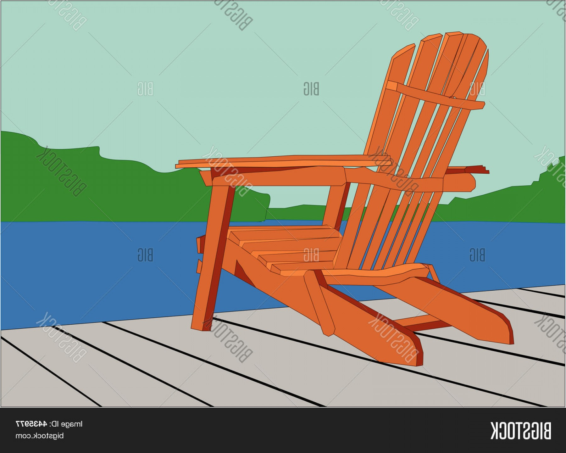 Adirondack Chair Vector at GetDrawings.com | Free for ...