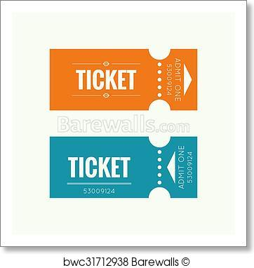 362x382 Art Print Of Entry Ticket Vector Barewalls Posters Amp Prints