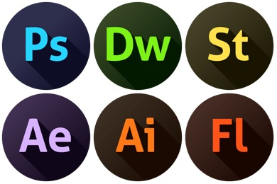 390x260 Adobe Icons