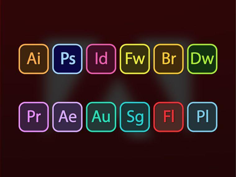 760x570 Adobe Suite Icons Adobe Icons Adobe, Icons And