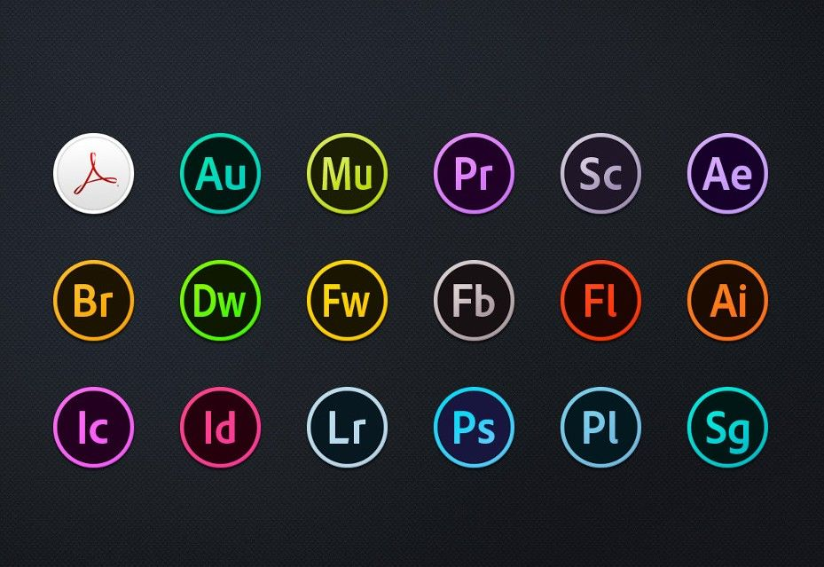 929x639 Adobe Cc Circles Icons Free Download Adobe