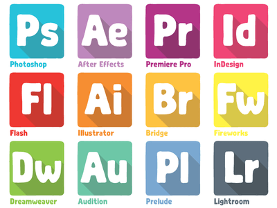 400x300 Free Adobe Products Dock Icons Vector