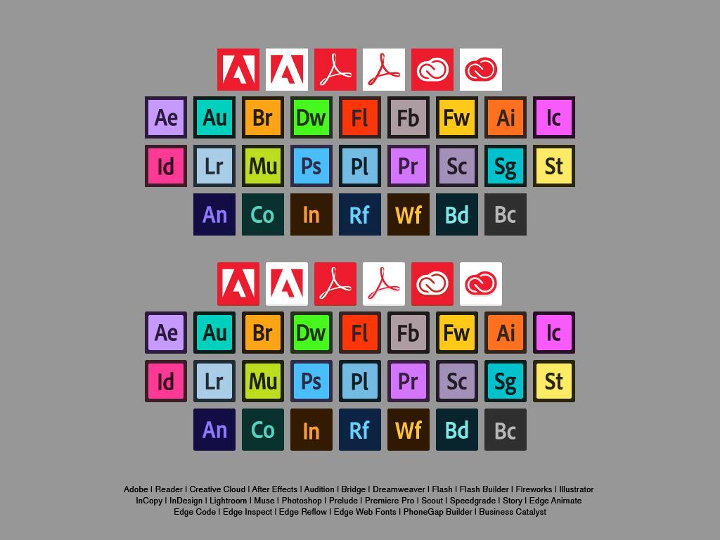 1024x768 Free Flat Adobe Icons Anabel Leva