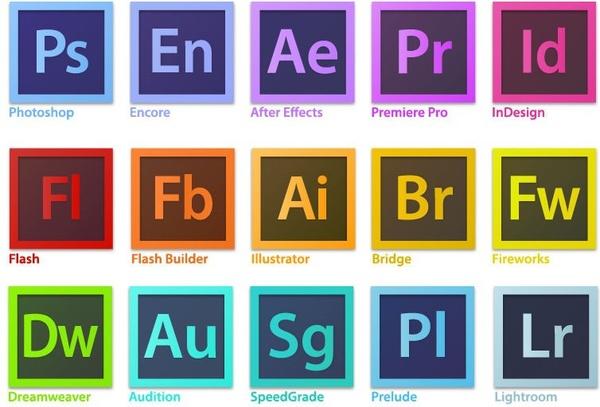 600x407 Adobe Creative Suite Family Software Logo Vector Free Vector In